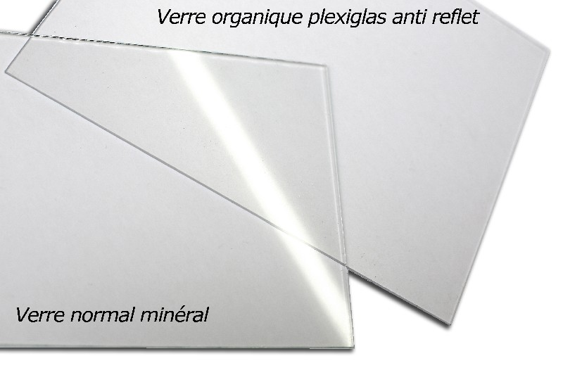 choisissez le verre organique plexiglas anti reflet pour votre cadre sur mesure. Black Bedroom Furniture Sets. Home Design Ideas